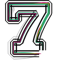font NUMBER 7 vector image