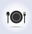 Fork spun plate icon
