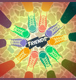 friendship pairs of shoes vector image vector image
