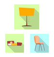 furniture and apartment vector image vector image