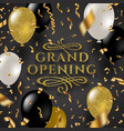 grand opening glitter gold logo vector image