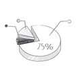 graphic with percentage on vector image vector image