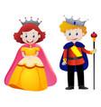 happy king and queen vector image vector image