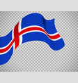 iceland flag on transparent background vector image vector image