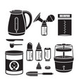 icons set of equipment for feeding baby vector image vector image