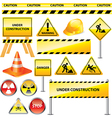 icons warning vector image