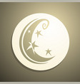 imaginative moon vector image