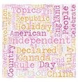 Independence Fever text background wordcloud vector image