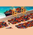 industrial port scene vector image vector image