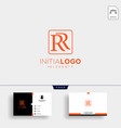 initial r luxury logo template and business card vector image vector image