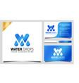 letter w water drops logo design element vector image vector image