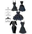 little black dresses vector image vector image