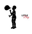 little child baby little boy blows bubbles vector image vector image