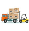 Loader Sinker Boxes in the Truck vector image vector image