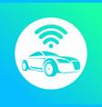 logo autonomous car vector image
