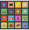 Market flat icons set vector image vector image