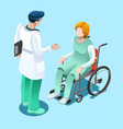 Medical professionals isometric people