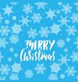 merry christmas handwritten white lettering design vector image vector image