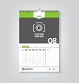 minimalist calendar template for august 2020 vector image vector image