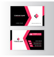 modern professional business card template vector image vector image