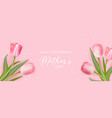 mother day greeting card floral spring vector image vector image