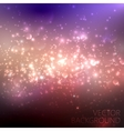 multicolored sparkling background with glowing vector image vector image