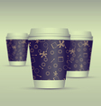 Paper coffee cup set vector image