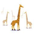 paper origami giraffe vector image