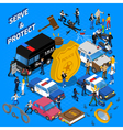 Police Isometric vector image vector image