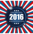 Presidential Election 2016 in USA Background Can vector image vector image