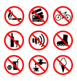 Prohibiting signs set vector image