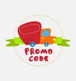 promo code concept promotions vector image vector image