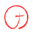red christian cross icon vector image vector image