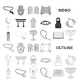 religion and belief monochrom icons in set vector image vector image