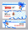 sale banners realistic ribbons vector image vector image