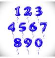 sapphirine blue number 1 2 3 4 5 6 7 8 9 0 vector image