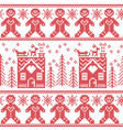 Scandinavian nordic christmas pattern with ginger