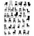 set antique furniture vector image