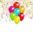Set colorful balloons and confetti for your party vector image
