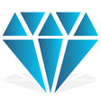 simple diamond jewelry sign symbol precious stone vector image