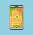 smartphone gps map navigation application web vector image vector image