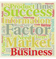 Success Factors Of Wealthy Infoproduct Marketers vector image vector image