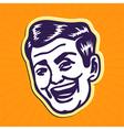 Vintage charming portrait of smiling retro man vector image vector image