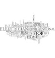 When should we hire a electrician text word cloud vector image