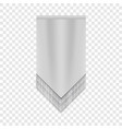 white pennant mockup realistic style vector image vector image