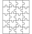 white puzzle 9 vector image vector image