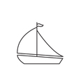 Yacht icon outline vector image vector image