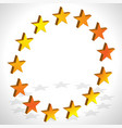 yellow orange star in circle editable vector image vector image