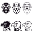 lion and eagle vector image