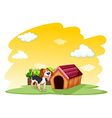 Puppy outside the pethouse vector image